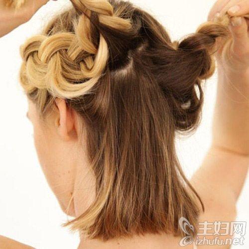 资讯【花环编发教程】7步diy双辫式花环编发发型